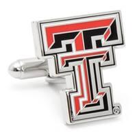 Texas Tech University Nickel Plated Cufflinks - Red
