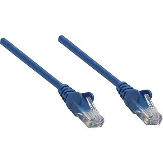 """Intellinet 319874 Intellinet Patch Cable, Cat5e, UTP, 25', Blue - PVC cable jacket for flexibility and durability with"