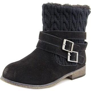 Bearpaw Shania Women Round Toe Suede Black Winter Boot