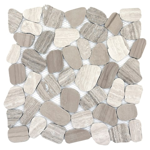 Emser Tile M05CULT1212MOH Cultura - Pebble Mosaic Floor and Wall Tile - T