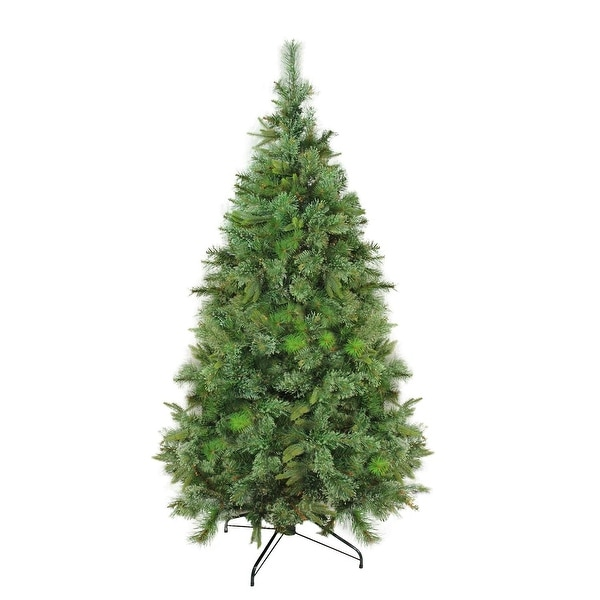 "7.5' x 55"" Cashmere Mixed Pine Full Artificial Christmas Tree - Unlit - green"