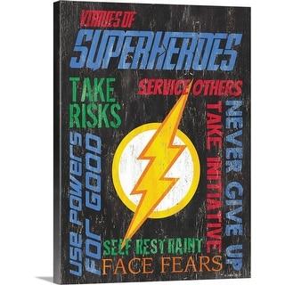 """""""Virtues of Superheroes I"""" Canvas Wall Art"""