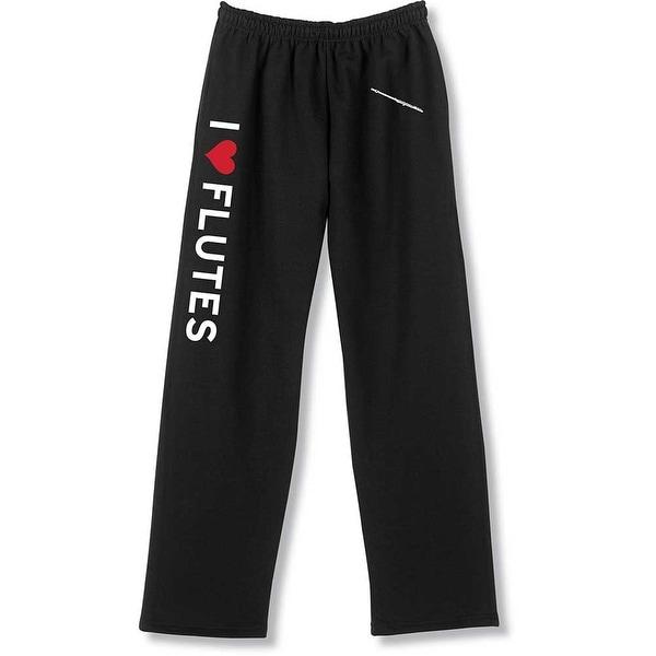 Unisex Adult I Heart Instruments Unisex Sweatpants - I Love Flutes