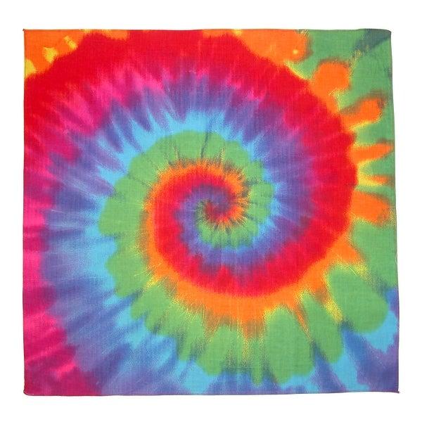 CTM® Rainbow Tie Dye Bandana - One size