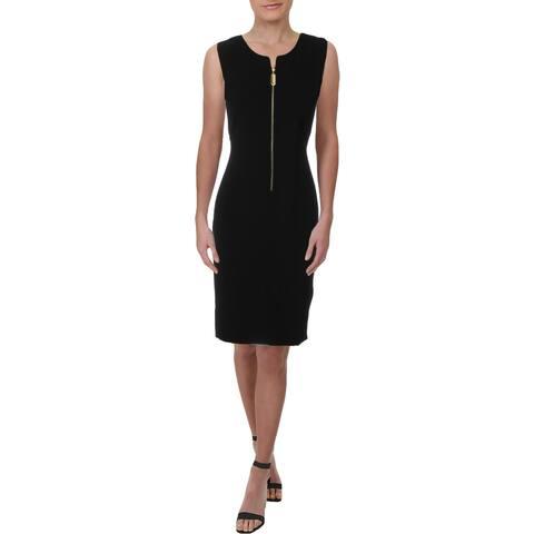 Donna Karan Womens Wear to Work Dress Sleeveless Zip Front