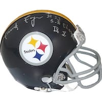 Frenchy Fuqua signed Pittsburgh Steelers Riddell TB Mini Helmet SB Champs IX X 33 insc to right