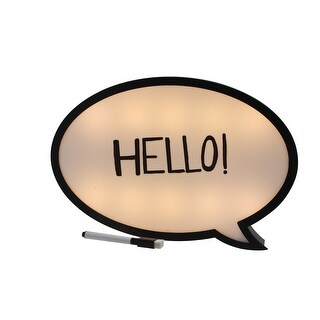 Battery Operated LED Lighted Speech Bubble White Board