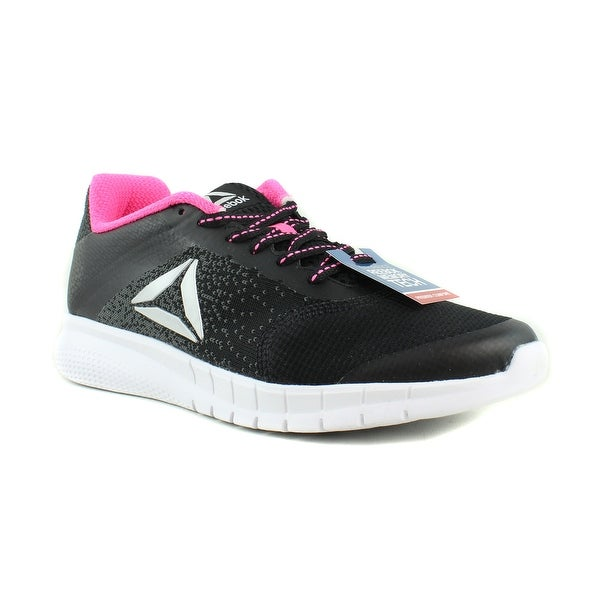 b43fc7666932 Reebok Womens Instalite Run Black Coal White SolarPink Silver Running Shoes