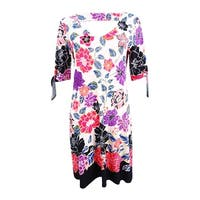 Msk Women's Printed Cold-Shoulder Cutout Dress - Black Multi