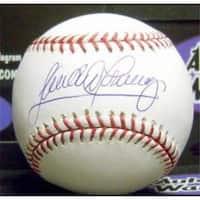 Sandy Alomar Jr Signed Baseball - OMLB Cleveland Indians Rookie of