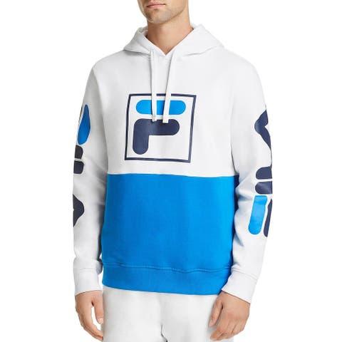 Fila Mens Prato Hooded Sweatshirt Large White