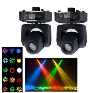 2x RGBW Mini LED Spot Moving Head Stage PAR Fixture Light DMX Show DJ Club Party