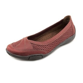 Auditions Verona II Women N/S Round Toe Leather Red Flats