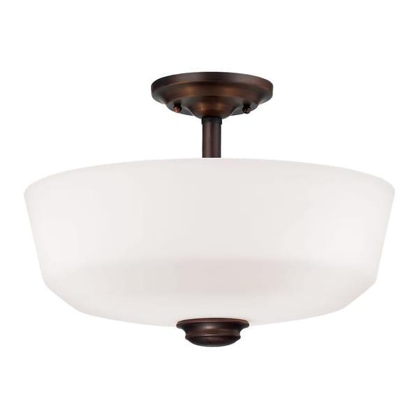 Millennium Lighting 2152 Cimmaron 2-Light Semi-Flush Ceiling Fixture