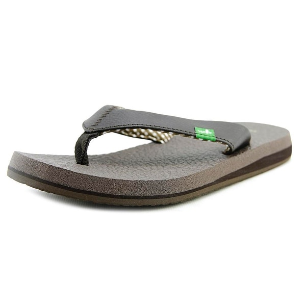 Sanuk Yoga Mat Women Open Toe Synthetic Brown Flip Flop Sandal