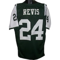 Darrelle Revis unsigned Green Custom Stitched Pro Style Football Jersey XL fdd4f5c76