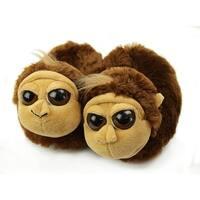 Fuzzy Monkey Slippers, Youth Medium