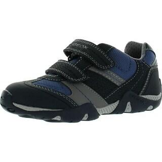 Geox Jr Boys Aragon Junior Fashion Sneaker Shoe - Navy/Grey - 27 m eu / 10 m us toddler