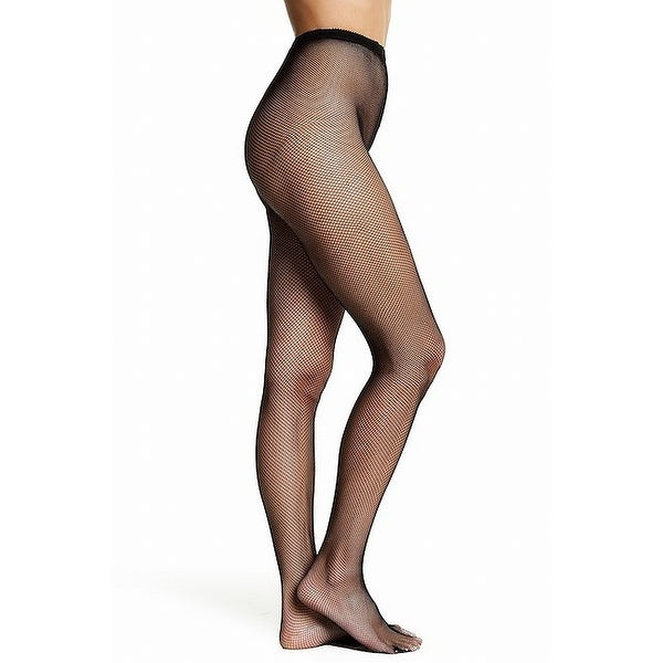 5586140ce96 Shop Free Press NEW Black Size Small Medium Micro Fishnet Women s Nylon  Tights - Free Shipping On Orders Over  45 - Overstock - 21834153