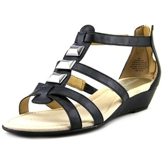 Easy Spirit Maralyn Women  Open Toe Synthetic Black Wedge Sandal