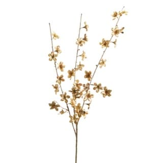 "Club Pack of 12 Decorative Artificial Copper and Champagne Metallic Cherry Blossom Craft Spray 40"" - Brown"