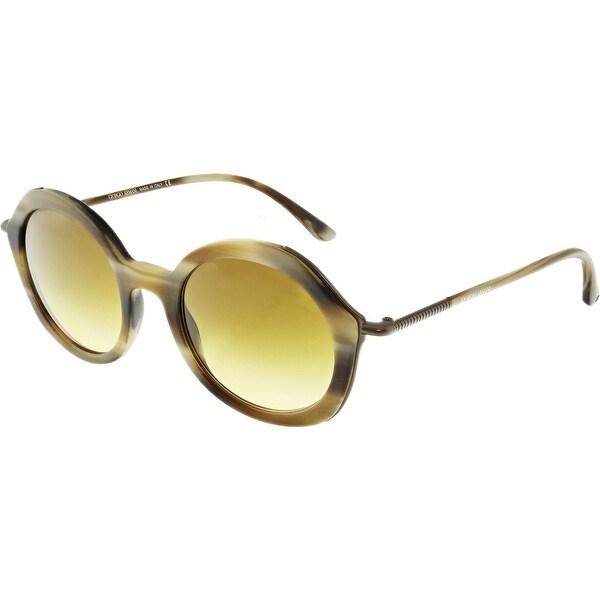 3169f95e7132 Giorgio Armani Women  x27 s Gradient AR8075-54942L-48 Brown Round Sunglasses