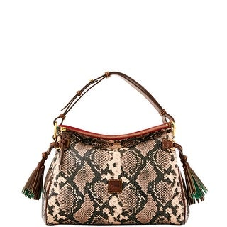 Dooney & Bourke City Python Medium Zip Hobo (Introduced by Dooney & Bourke at $298 in Sep 2016) - Slate
