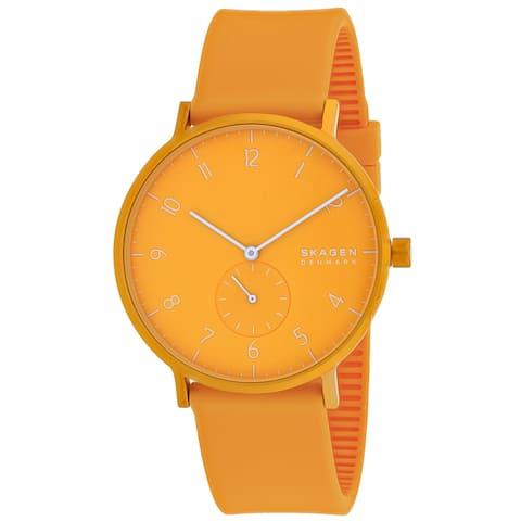 Skagen Men's Aaren Kulor Orange Dial Watch - SKW6510 - One Size