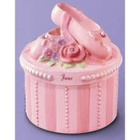 A Time to Dance Classics June Ballerina Trinket Box by Russ Berrie - Pink - 4.0 in. x 3.0 in. x 3.0 in.