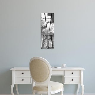 Easy Art Prints Panoramic Images's 'A bridge, Brooklyn Bridge, Manhattan, New York City, New York State' Canvas Art
