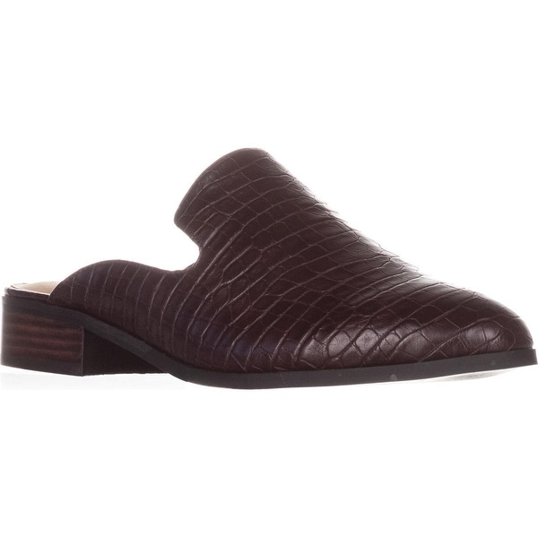 Bella Vita Briar II Backless Loafers, Burgundy Croco