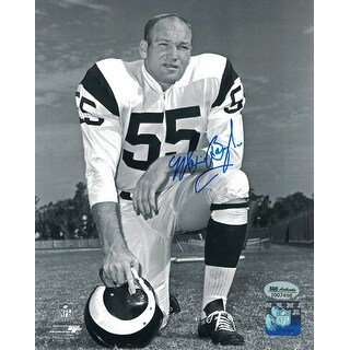 Maxie Baughan Autographed Los Angeles Rams 8x10 Photo SGC