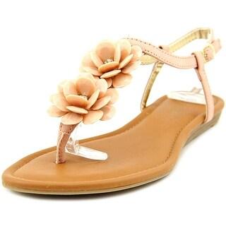 Rampage Dandylion Women Open Toe Synthetic Pink Thong Sandal