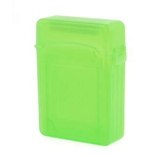 "Unique Bargains Green Protective 2.5"" HDD Storage Plastic Double-Deck Hard Drive Case"