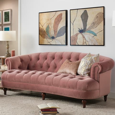Gracewood Hollow Zeleza Tufted Chesterfield Sofa