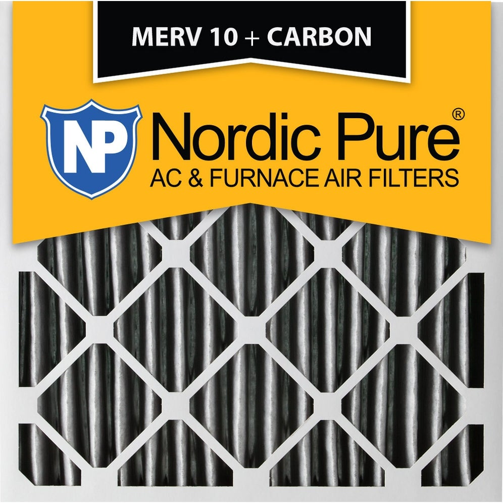 Nordic Pure 16x25x2 MERV 8 Pleated AC Furnace Air Filters 16x25x2 3 Pack
