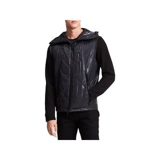 Calvin Klein Mens Outerwear Vest Quilted Geomtric - L