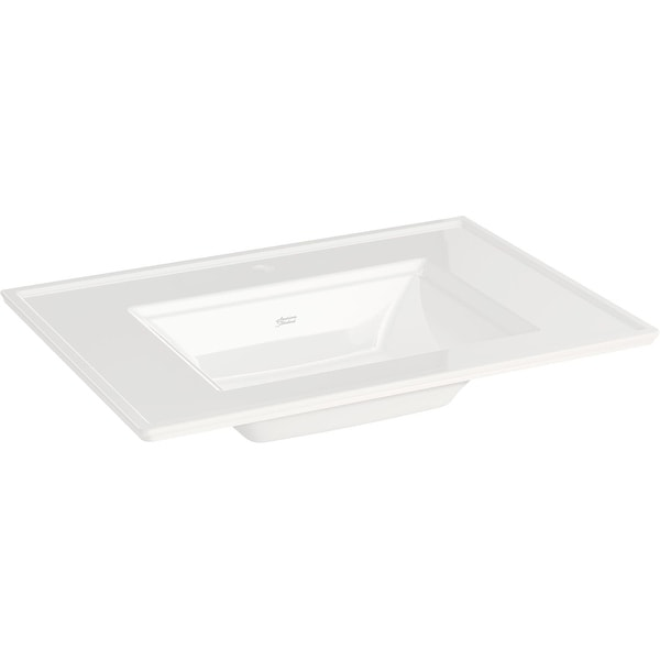 """American Standard 0298.001 Town Square S 31"""" Rectangular Vitreous China Deck Mounted Bathroom Sink with Overflow and Single"""