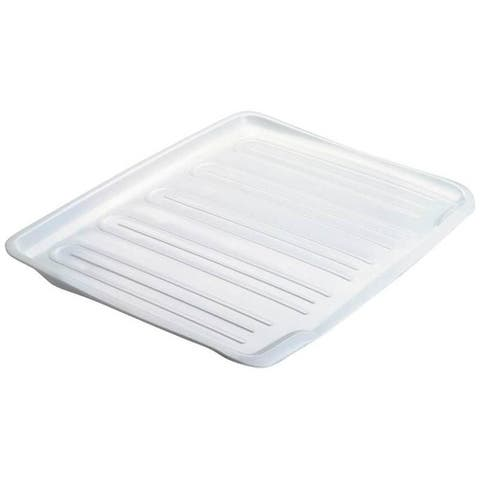 "Rubbermaid 1182-MA-WHT Dish Drainer Tray, 14-4/5"" x 18"""