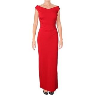Lauren Ralph Lauren Womens Haken Formal Dress Off The Shoulder Slit