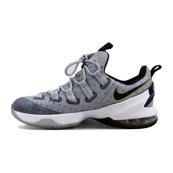 best sneakers 23e86 7a7ac Shop Nike Lebron XIII 13 Low Cool Grey/Metallic Gold-White ...