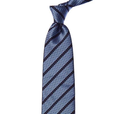 Ermenegildo Zegna Blue Stripe Silk Tie - NoSize