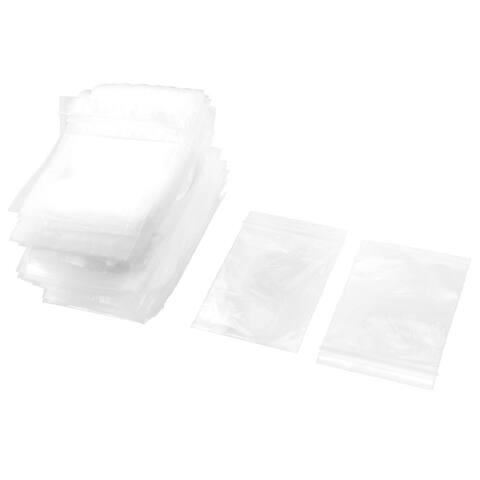 Home Kitchen Plastic Zipper Resealable Storage Bags Clear 9cm x 6cm 500pcs