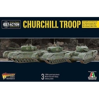 Bolt Action 402011001 WWII British Churchill Troop 3 Miniatures Infantry Tanks