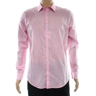 Calvin Klein NEW Pink Mens Size Medium M Button Down Slim Fit Shirt