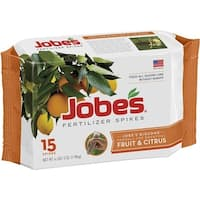 Jobes 01612 Fruit & Citrus Tree Fertilizer Spikes, 9-12-12