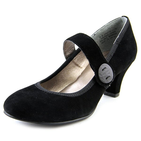 Array Sapphire Women Round Toe Suede Black Mary Janes