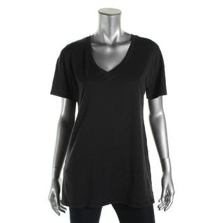 Alternative Womens Cotton V-Neck T-Shirt - L