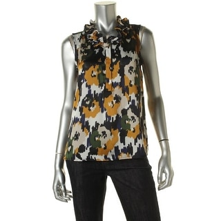 Nine West Womens Satin Printed Blouse - S