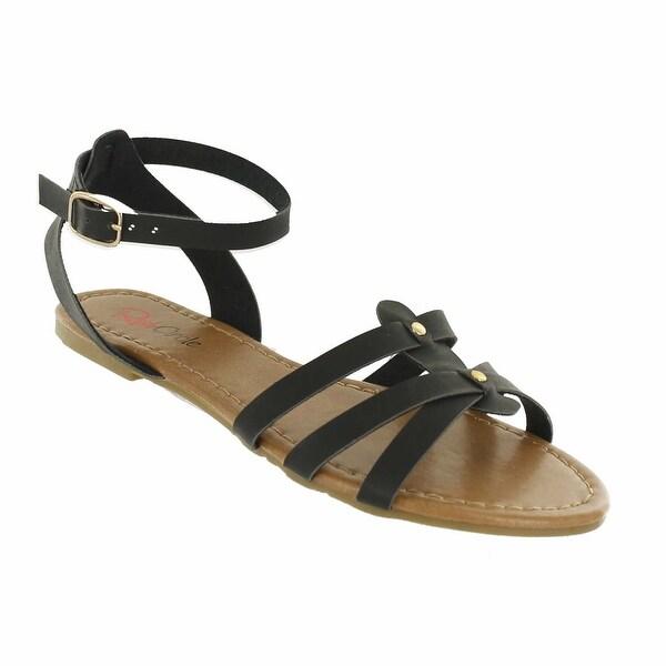 Red Circle Footwear 'Gala' Ankle Strap Flat Gladiator Sandal